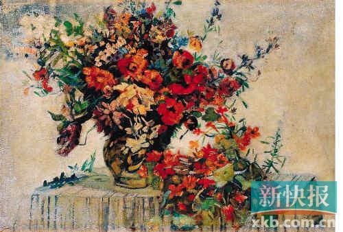 李叔同油画作品《花卉静物》,作于1911年.估价人民币180万-220万元.