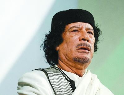 利比亚前领导人卡扎菲(资料图)