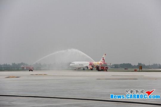 深圳飞扬州泰州机场的首架飞机顺利