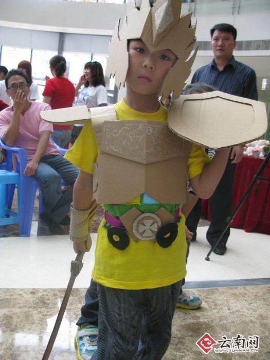 儿童环保服装制作图片