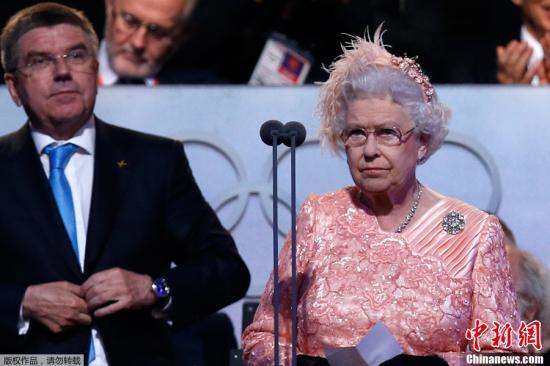 晨,2012年伦敦奥运会的开幕式隆重举行.这已经是奥运会第三次图片