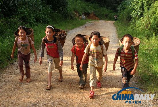 山区儿童的暑假生活