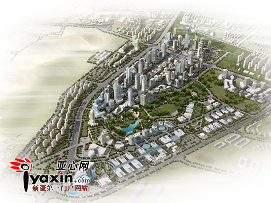 乌鲁木齐会展中心片区规划图