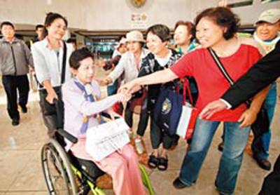 陈水扁妻子吴淑珍(左2)。图片来源:台湾《中国时报》