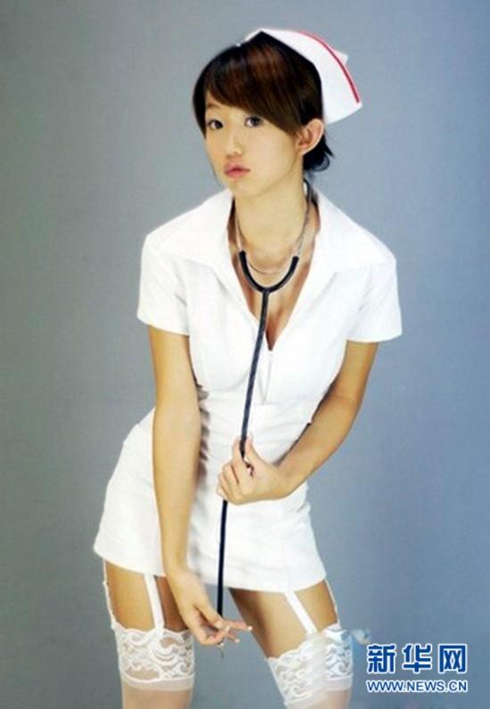 教师穿女仆装授课 学生装护士装制服诱惑喷血