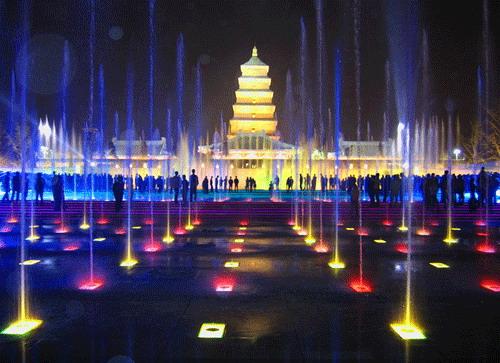 大雁塔音乐喷泉