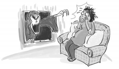 孕妇睡不着卡通