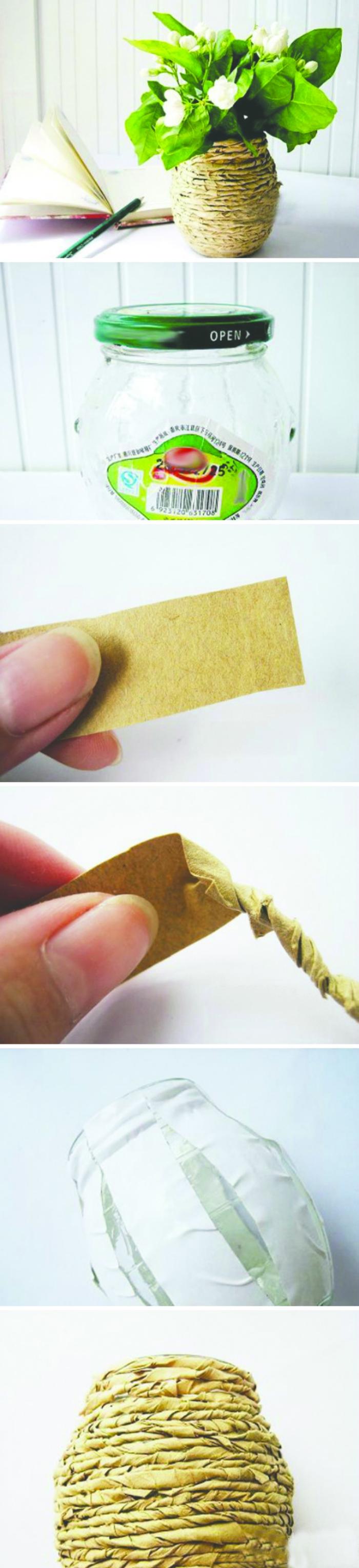 纸花瓶折纸步骤图解