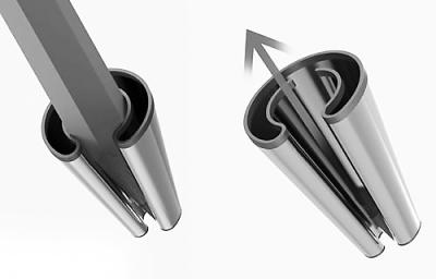 """滚动新闻 > 正文   原标题:弹性卷笔刀 """"twist""""设计很简单,弹簧钢一整"""