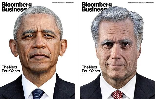 罗姆尼/美国杂志利用电脑技术制作出奥巴马或罗姆尼担任总统4年后的模样...