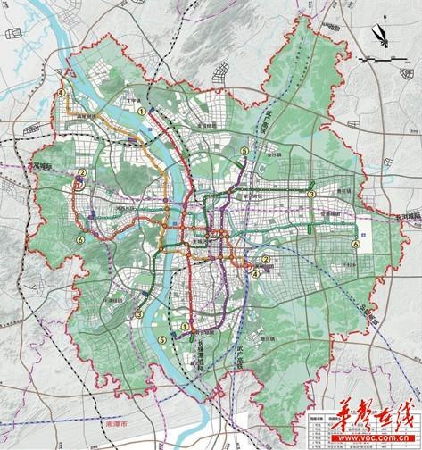 长沙市城市轨道交通近期建设规划图