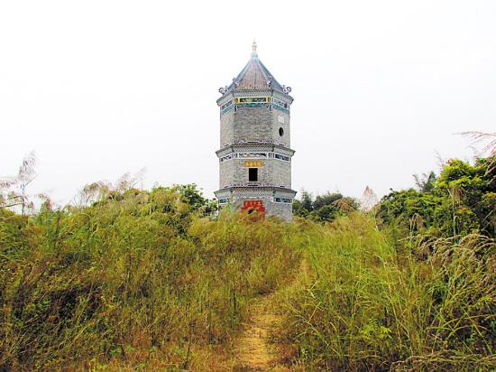 广州黄埔区深井村的三座文塔