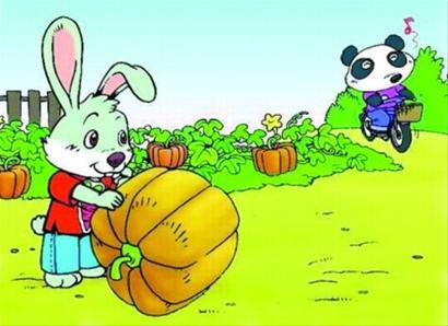 小白兔运南瓜