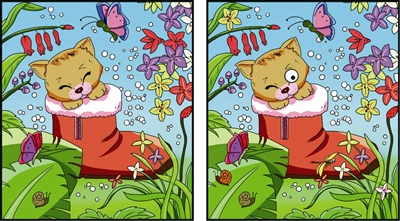找出左右两图的不同之处,答案下期公布.-找不同