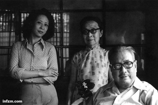 """林文月(左)与台静农(右)夫妇。台静农教会林文月抽烟、喝酒,林文月对台静农最深的印象是""""老年斑""""。 (王信/图)"""