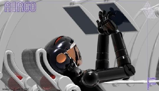 图3:AirGo座椅姿态调整示意图。 AirGo座椅将小桌板和屏幕安装在座位上方的行李箱上,与前排座位分离。座椅靠背采用柔韧性好且非常牢固的尼龙网布,它能够舒适的匹配旅客的身型,缓解飞行疲劳,避免出汗。旅客可以根据自己的姿势来调整座椅,避免颈椎和背部疼痛。AirGo座椅也取消了在安装在前座的脚踏板,现在的脚踏板是作为每个座位的一部分,旅客们能够自己调控来获得最大的舒适度。 触摸屏幕也是AirGo座椅的一部分,可用于调整座椅姿态,乘客能够通过椅臂轻松地调整触摸屏和小桌板的位置。