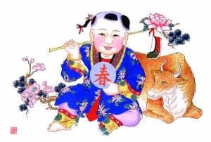 杨柳青年画《春牛图》图片