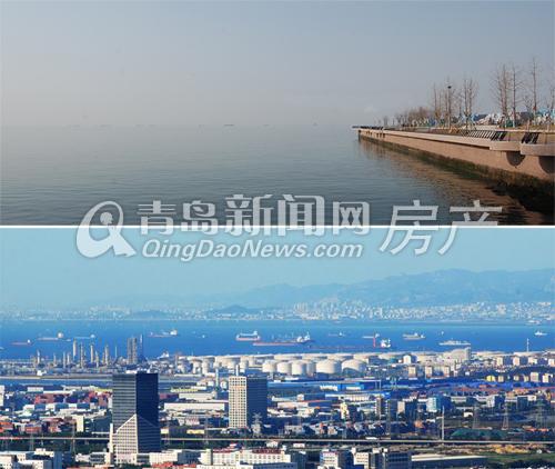 上图:安谧的后海片区 下图:西海岸滨海一角