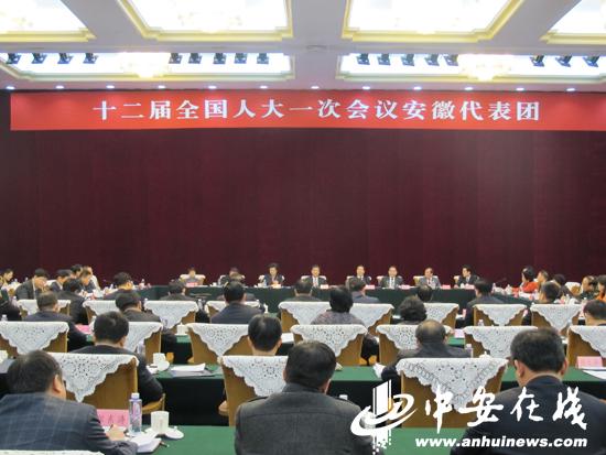 安徽代表团审议《政府工作报告》