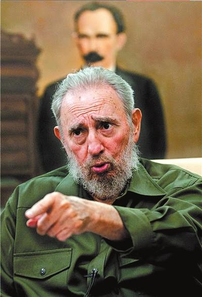 古巴革命领导人菲德尔·卡斯特罗(资料图片)。图/东方IC