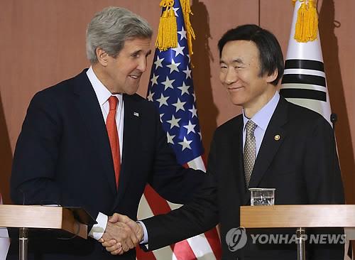 韩美外长会谈 克里表示美国愿同朝对话图片 57487 500x366