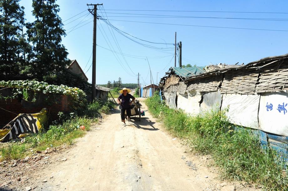 淝河镇卫乡处于合肥的城乡结合部,房屋有些破旧,张光英老人就住在这里
