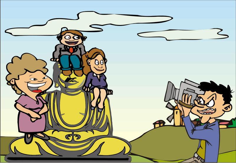 漫画:出游不文明行为煞风景