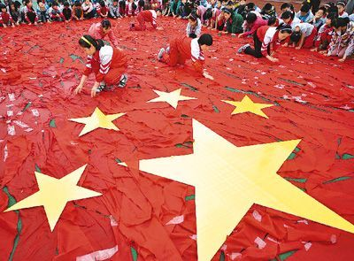 """来表达我的中国梦,抒发对伟大祖国的敬仰和热爱之情,喜庆""""六一""""儿童"""