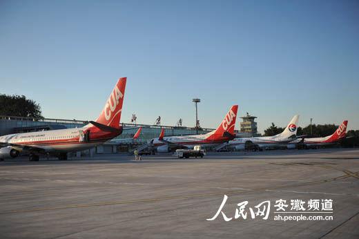 北京南苑机场起降的飞机架次相对较少