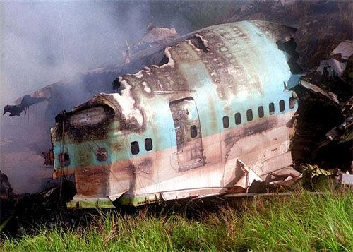 大韩航空801号班机空难飞机残骸