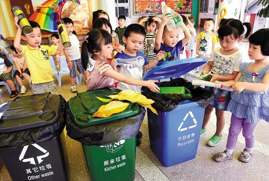 幼儿园的垃圾分类课