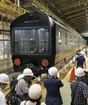 """日本豪华卧铺列车""""七星in九州""""-日豪华列车 七星 开始装修 10月将正"""