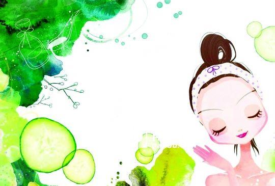 可爱小黄瓜背景图