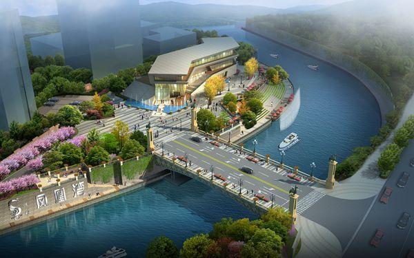 改造后的沿河景观效果. (资料图片)