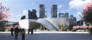 当代艺术馆及城市规划展览馆效果图