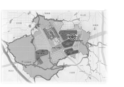 新桥机场临空产业园区规划图-空港新城将打造 3区2园1中心