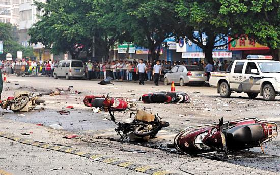 桂林八里街今早发生爆炸