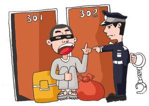 男子半夜进入邻居家盗窃 被民警抓却说在抓小偷图片