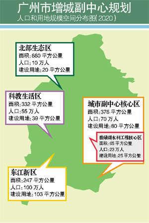 规划图.   增城副中心规划正式公布 重点发展挂绿新城   昨高清图片