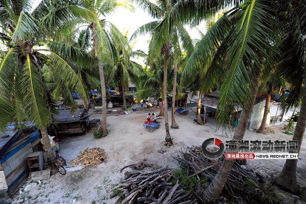 (这是2012年5月6日拍摄的西沙永兴岛上的渔村。)