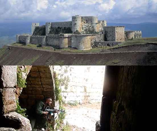 受损的世界遗产古迹中,有一个便是霍姆斯市附近的克拉克骑士城堡图片