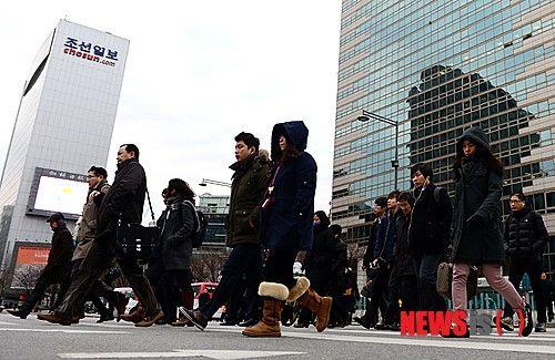 【组图】韩国春节长假结束,正常上班(组图) 韩
