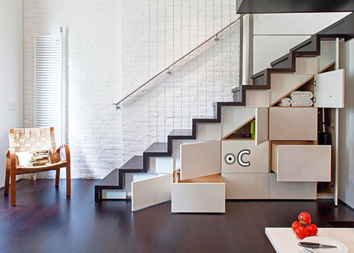 复式小户型楼梯装修效果图