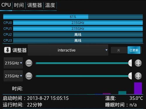 將最高最低主頻紛紛鎖定至2.2GHz