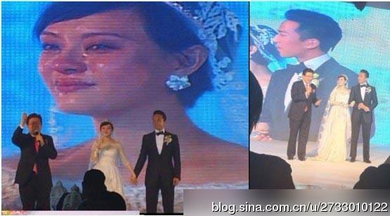 """在婚礼现场,当婚礼进行曲想起的时候,当主持人说""""新郎可以吻新娘""""的"""