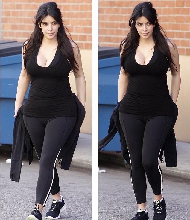 卡戴珊不顾怀孕穿运动衣现身健身房