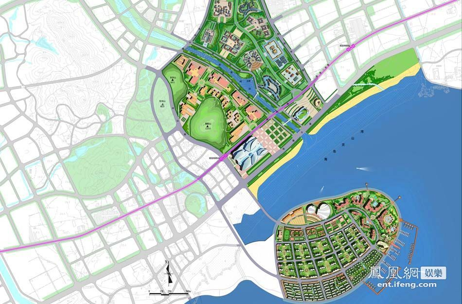 青岛 东方影都 影视产业园设计效果图