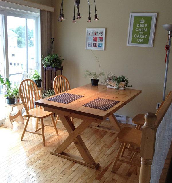 > 正文   200平米加拿大別墅平房也瘋狂 小編認為:原木材質的家具小編