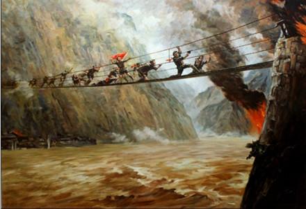 """有关泸定桥的资料_红军""""飞夺泸定桥""""时惊心动魄的场面是真的吗? 泸定桥 红军"""