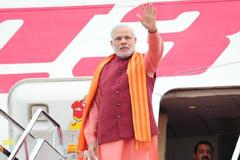 印度总理莫迪抵达西安